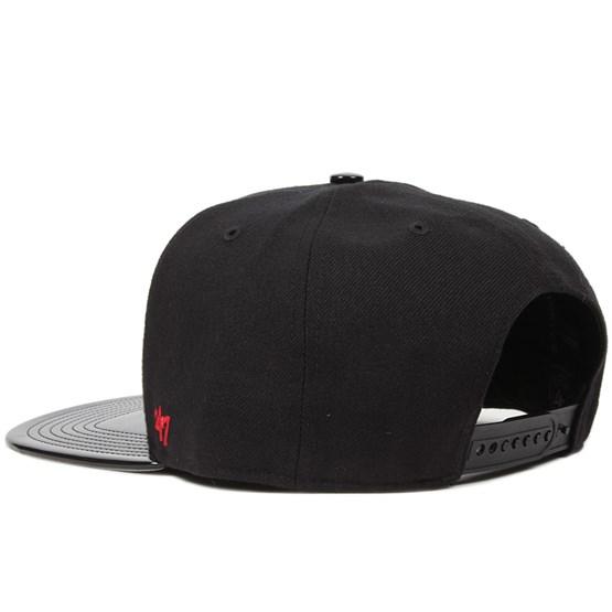 cf1ed13ebb4 NY Yankees Shinedown Black Red Snapback - 47 Brand caps