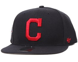 Cleveland Indians Sure Shot Navy/Red Snapback - 47 Brand