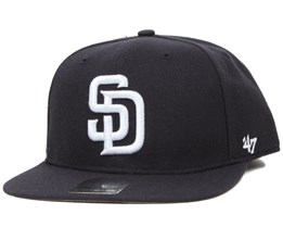 San Diego Padres Sure Shot Black/White Snapback - 47 Brand
