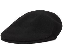 Wool 504 Black Flat Cap - Kangol