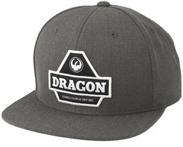 Pyramid Charcoal Snapback - Dragon