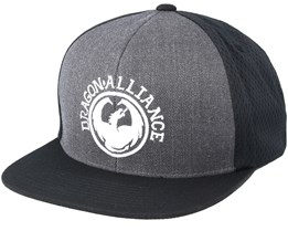 Lifer Dark Grey/Black Snapback - Dragon