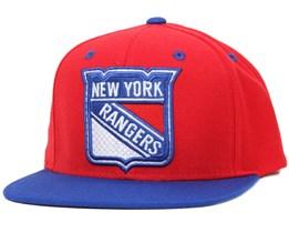 NY Rangers Faceoff 2 Red Snapback - Reebok