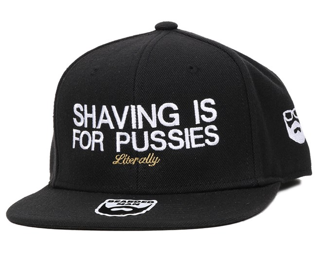 Shaving Black Snapback - Bearded Man