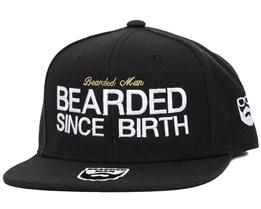 Since Birth Black Snapback - Bearded Man