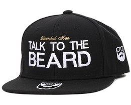 Talk To The Beard Black Snapback - Bearded Man
