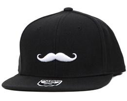Mustache Logo Snapback - Bearded Man