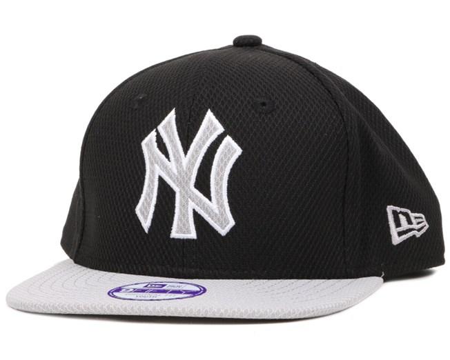 Kids NY Yankees Diamond Two Tone Black/Grey Snapback - New Era