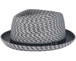 Mannes Charcoal Multi Grey Fedora- Bailey