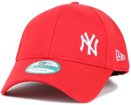 NY Yankees Classic Logo Scarlet 940 Adjustable - New Era