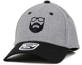 Logo Grey/Black Flexfit - Bearded Man