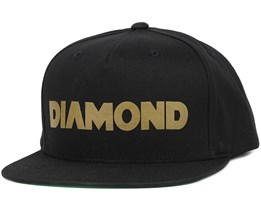 Track Black Snapback - Diamond