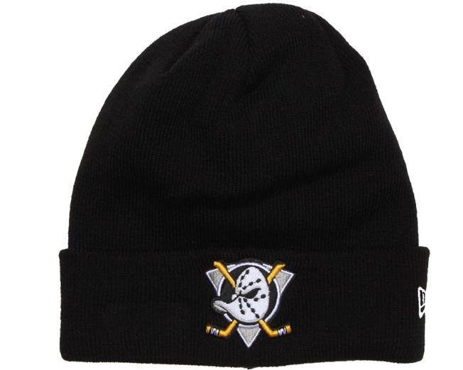 Anaheim Ducks Basic Cuff Black Knit - New Era