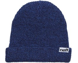 Fold Heather Navy/Blue Beanie - Neff