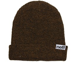Fold Heather Black/Cumin Beanie - Neff