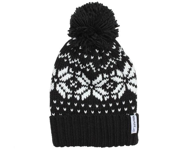 Pattern Tuft Black/White Beanie - Appertiff