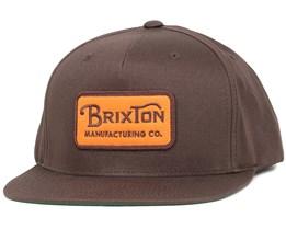 Grade Brown Snapback - Brixton
