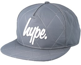 Quilted Reflective Grey/White Snapback - Hype