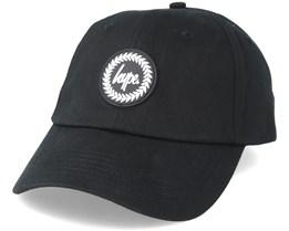 Crest Dad Hat Black Adjustable - Hype