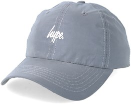 Reflective Script Dad Hat Grey Adjustable - Hype