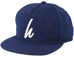 Wool Navy Snapback - Hype