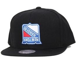 NY Rangers Upside Down Logo Snapback - Mitchell & Ness