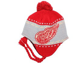 Detroit Red Wings Faceoff Tassle Knit Pom - Reebok