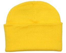 Knitted Beanie Yellow - Beanie Basic