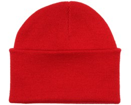 Knitted Beanie Classic Red - Beanie Basic