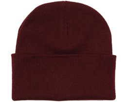 Knitted Beanie Burgundy - Beanie Basic