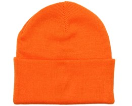 Knitted Beanie Orange - Beanie Basic