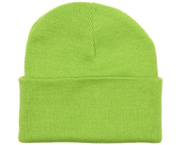Knitted Beanie Lime Green - Beanie Basic