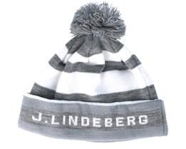 Stripe Golf Stone Grey Beanie - J.Lindeberg