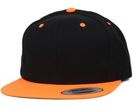 Black/Neon Orange Snapback - Yupoong