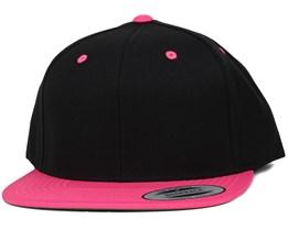 Black/Neon Pink Snapback - Yupoong