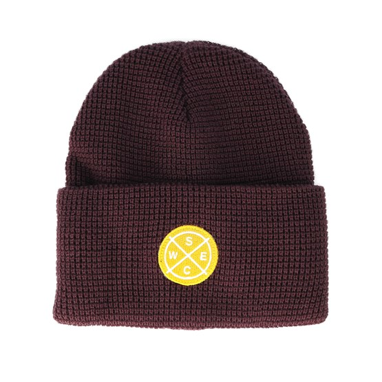 Puncho Patch Red Port Beanie - WeSC beanies  7f3bc138ba0