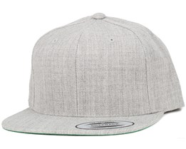 Heather Grey Snapback - Yupoong