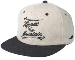 Mountain White/Black Snapback - Appertiff