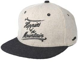 Mountain White/Black Snapback - Appertiff