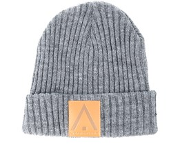 Badge Grey Melange Beanie - Wear Colour