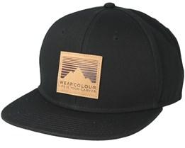 Badge Black Snapback - Wear Colour