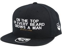 At The Top Black Snapback - Bearded Man