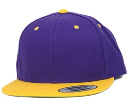 Purple/Gold Snapback - Yupoong
