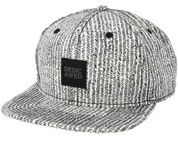 Zig Zag White Snapback - Dedicated