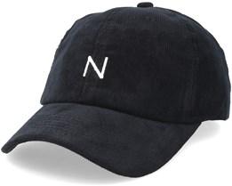 Corduroy Baseball Cap Black Adjustable - New Black