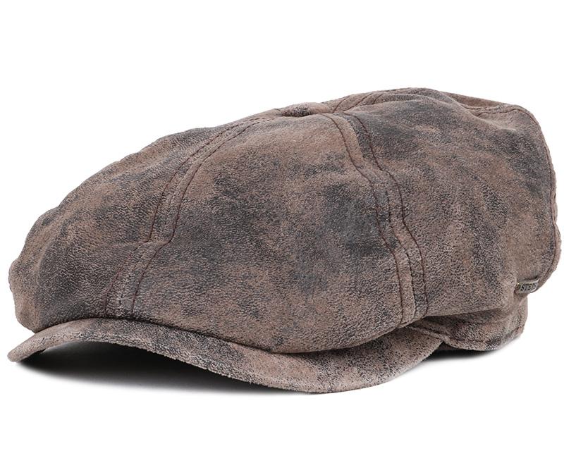 mccook pigskin flat cap stetson caps hatstore co uk