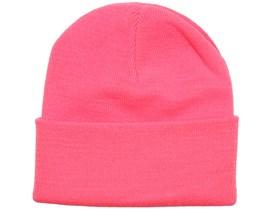 Fluorescent Pink Beanie - Beanie Basic