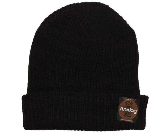 Blowout Slouch Black Beanie - Analog