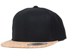 Black/Cork Snapback - Yupoong