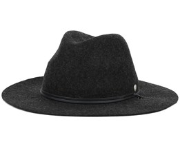 Lee Heather Black Trilby - Coal